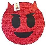 Red Emoticon Pinata 16''