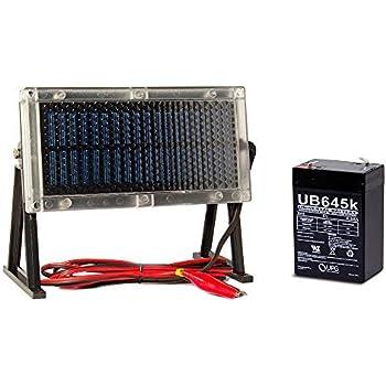 UB645 6V 4.5Ah Battery for Wildgame Innovations + 6V Solar Panel Charger