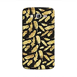 Cover It Up - Gold Feathers Black Print Galaxy Grand Prime Hard Case