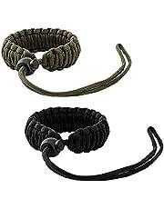 MoKo Universal Paracord [2 Pack], Nylon Braided Adjustable Camera Hand Grip Strap for Video Camcorder, Binoculars and Nikon/Canon/Sony/Minolta/Panasonic/SLR/DSLR Digital Cameras, Black & Army Green