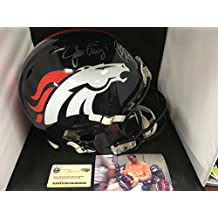 Peyton Manning John Elway Dual Signed Autographed Denver Broncos Revolution Proline Authentic Helmet Steiner Sports COA & Hologram W/Photo From Signing