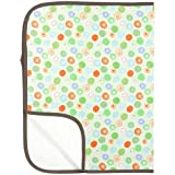 Kushies Flannel Deluxe Waterproof Diaper Changing Pad (Crazy Circles Green), Health Care Stuffs