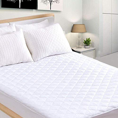 King Mattress Protector, Waterproof Quilted Mattress Pad Cov