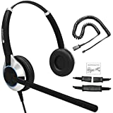 Deluxe Double Ear Noise Canceling Headset For Call Center / Office & Cable For ALL Cisco 6000, 7800 and 8000 series phones and also models 7931 7940 7941 7942 7945 7960 7961 7962 7965 7970 7975