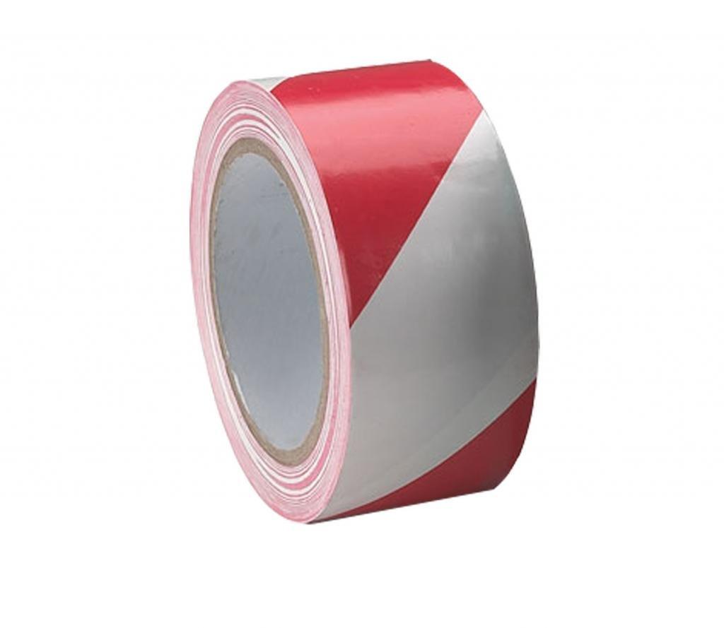 MAPLIN 50mmx33m Red White Adhesive Hazard Warning Tape