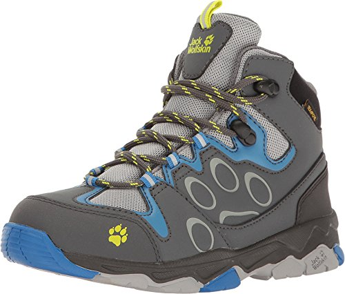 [Jack Wolfskin Kids Baby Boy's Mountain Attack 2 Texapore Mid (Toddler/Little Kid/Big Kid) Wave Blue] (Next Kids Boots)