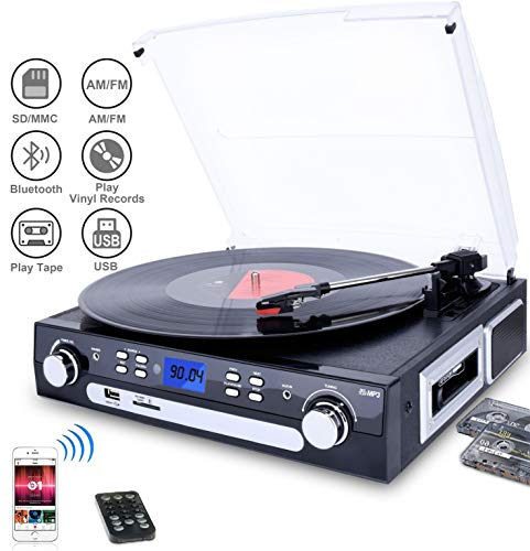 Used, DIGITNOW Vinyl/LP Turntable Record Player, with Bluetooth,AM&FM for sale  Delivered anywhere in USA