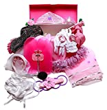 MMP Living Girls Dress Up Set: Princess, Ballerina, Pop Diva, Bride, Fairy Accessories for Pretend Play
