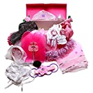 Girls Dress Up Set: Princess, Ballerina, Pop Diva, Bride, Fairy accessories for pretend play