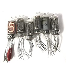 6 pcs USED NIXIE TUBES IN-8-2 (as IN-14) Soviet Neon DIGITS