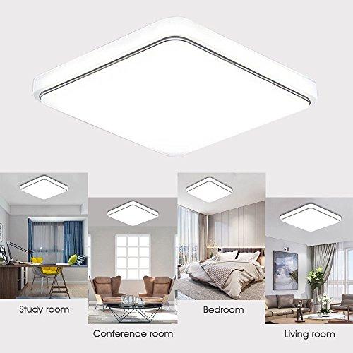 Holmark 24W Square LED Ceiling Down Light Flush Mount Home Kitchen Fixture Lamp - Opt Flush