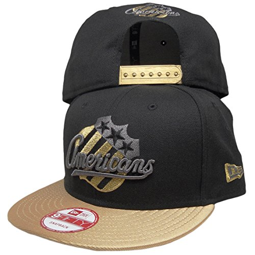 Rochester Americans New Era Custom 9Fifty Snapback Hat to match Air Jordan 11 Black Gold