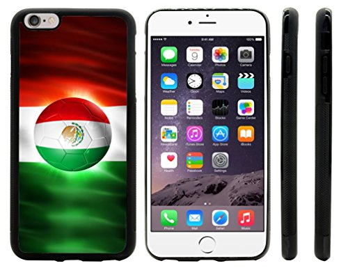 Rikki KnightTM Brazil World Cup 2014 Mexico Team Football Soccer Flag Design iPhone 6 Plus & 6s Plus Hybrid Case Cover (Black Rubber with front bumper protection) for Apple iPhone 6 Plus & 6s Plus
