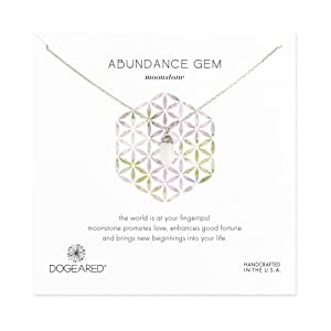 Dogeared Abundance Moonstone Sterling Silver Chain Necklace, 18