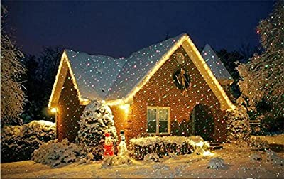 L&T STAR Snow Led Projector Led Outdoor Waterproof Christmas Decoration Garden Lights Inserted Lawn Stage Lights