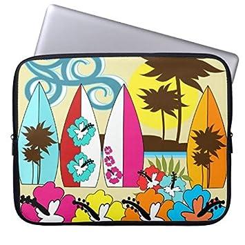 oliyneco tienda de surf surfing Ocean playa tabla de surf Palmeras de neopreno para portátil Macbook