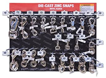 "Campbell DD0720170 67 Piece 15"" x 18.25"" Die Cast Zinc Snaps Display Assortment"