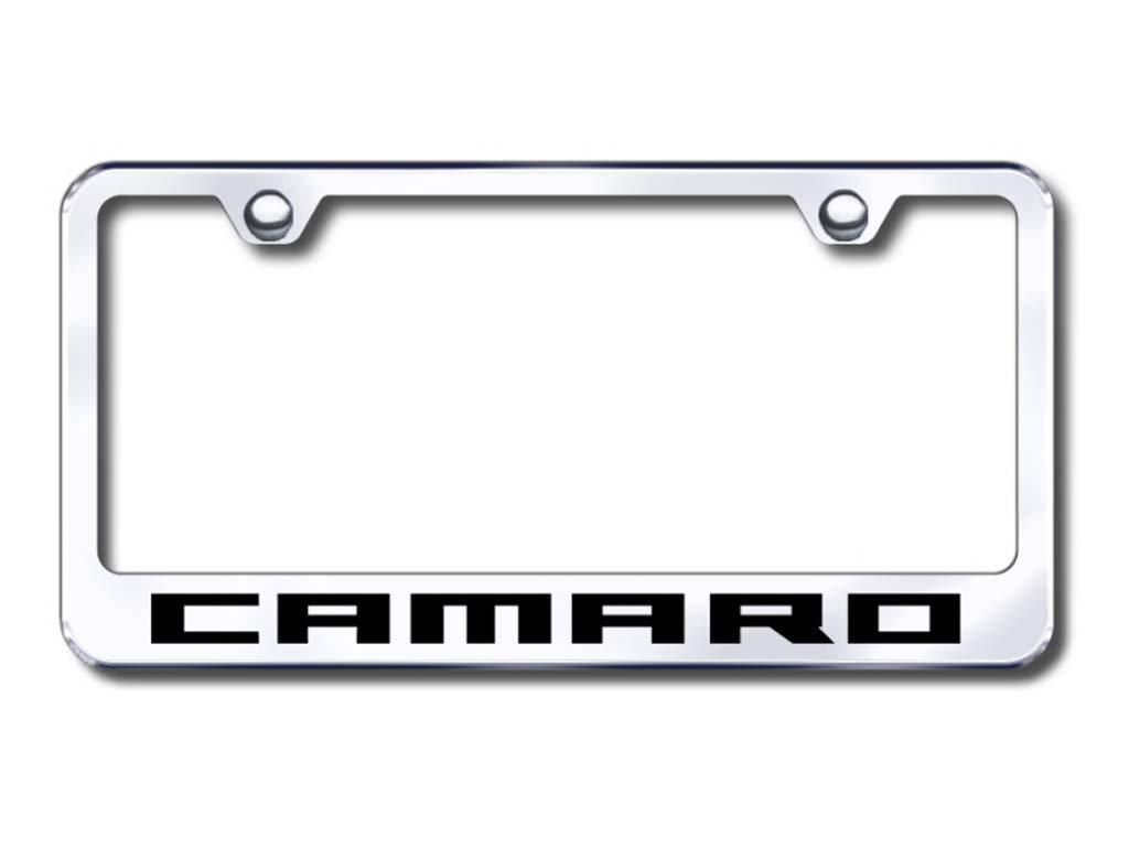 Cheverolet Camaro Custom License Plate Frame Au-tomotive Gold