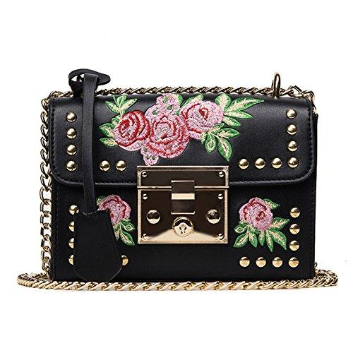 Flower Mini Leather Shoulder Bag - 4