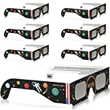 Solar Eclipse Glasses - CE and ISO Certified Safe Shades for Direct Sun Viewing - Viewer & Filter - Made in USA (6 Pack) - Astronaut
