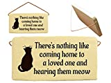 There's nothing like coming home to a loved one and hearing them meow. Ceramic wall plaques handmade in the USA for over 30 years. Reduced price offsets shipping cost.