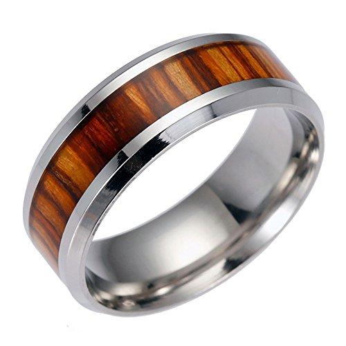 WensLTD Clearance! Men's Titanium Steel Chain Rotation Ring Cross Border Jewelry Ring (#13, Brown-2)