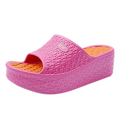 1150d4252439 AOJIAN Shoes Womens Sandals Summer Thick Platform Wedge Beach Flip Flop  Slide Slipper Clog Mule Hot