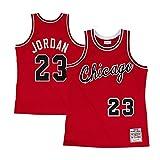 Jordan Mens No.23 Hardwood Classics Rookie Road Jersey Red