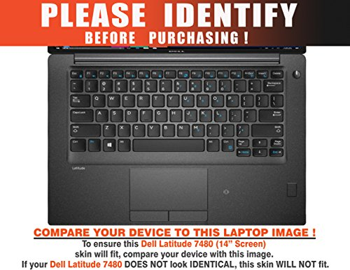 """Decalrus - Protective Decal for Dell Latitude 7480 (14"""" Screen) Laptop RED Carbon Fiber Skin case Cover wrap CFdellLatitude7480Red"""
