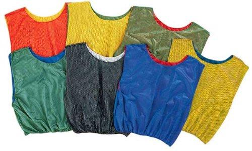 代表団商人不運オリンピアスポーツPC146Pリバーシブルつかみ合いベスト - 緑 - 黄
