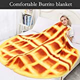 CASOFU Waffles Blanket, Giant Flour Waffles Throw