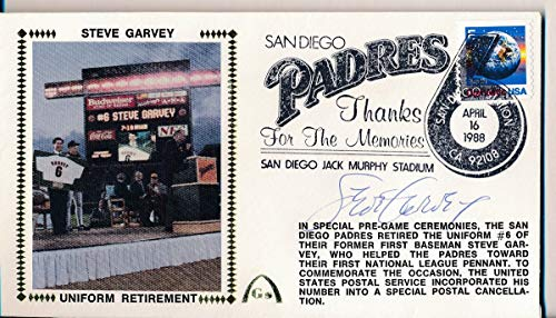 - Steve Garvey Padres Uniform Retirement Signed First Day Cover Envelope 140880