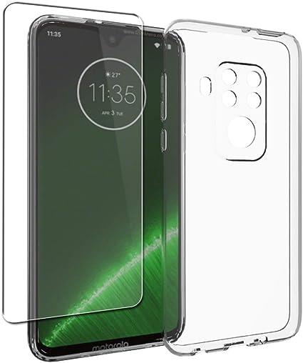 SDTEK Custodia per Motorola Moto One Zoom [Carbonio TPU] Cover