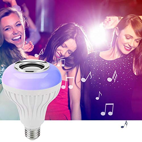 SSR Smart Music Audio Speaker LED Bulb Light Lamp with Remote Control