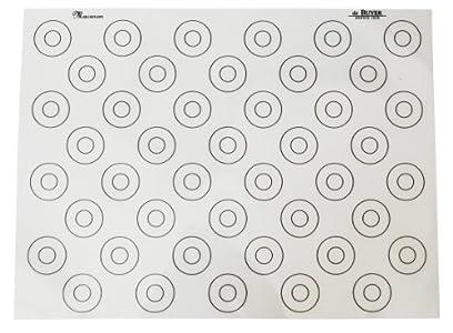 De Buyer 4935.40 Tapis Siliconé Fin spécial Macarons – 44 repères – 40 x 30 cm