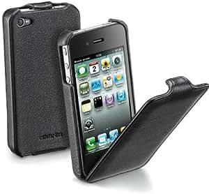 Cellular Line Flap - Funda para móvil iPhone 4, negro