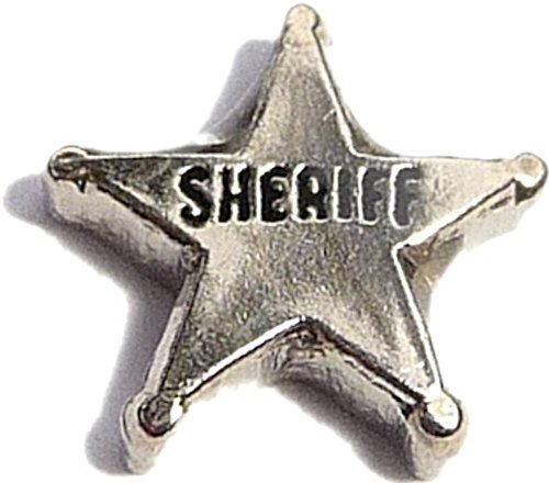 - Sheriff Badge Star Floating Locket Charm
