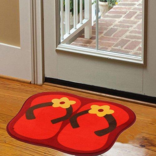 Iuhan Floor Mats Bedroom Carpet Door Household Ground Bathroom Household Rug (Red) (Primo Seat Bmx)
