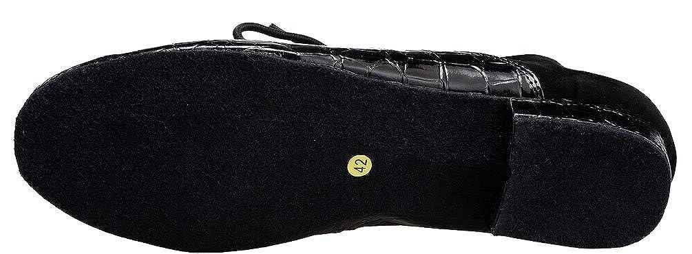 Salabobo YYM-L145 Mens Modern Jazz Lace-up Closed Toe PU Dance-Shoes