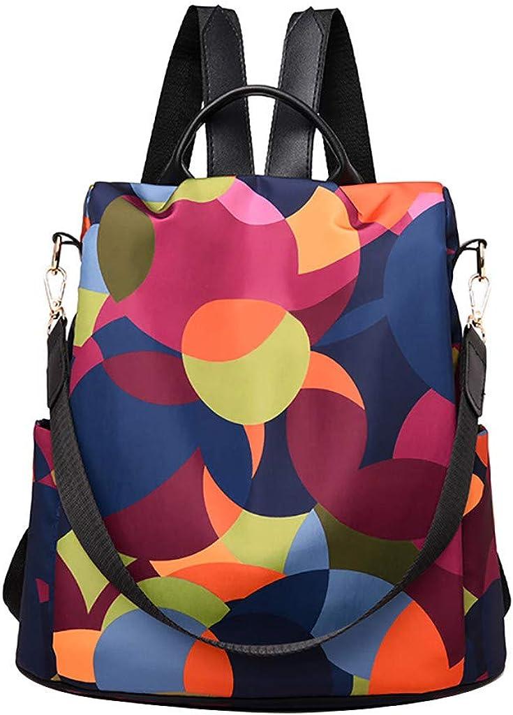 bolsos mochilas mujer casual, MINXINWY Mochila de viaje de mujer salvaje colorida Bolsos Mochilas Doble Uso Tela Oxford Bolsos Bandolera Mujer de Gran Capacidad Impermeable