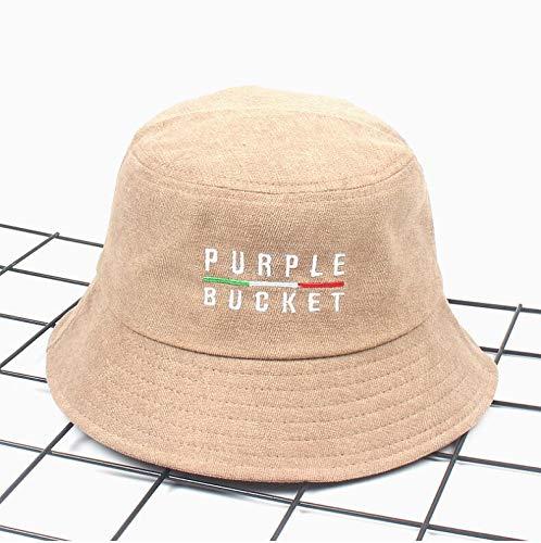 LDIEHWD Autumn Winter Purple Corduroy Unisex Bob Caps Hip Hops Men Women Panama Warm Windproof Bucket Hat Beige