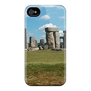 Tpu Mialisabblake Shockproof Scratcheproof Stonehenge Hard Case Cover For Iphone 4/4s