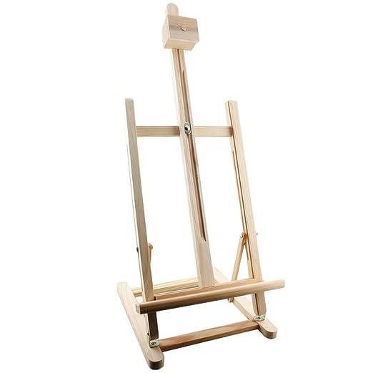 Artico - Caballete para pintura, de mesa, de madera, regulable ...