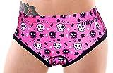 Koson-Man Women's Fashionable Cartoon 3D Silica Gel Padded Underwear Bike Bicycle Shorts(Color Pink Size XXL)