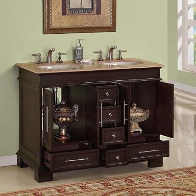 48 Inch Bathroom Vanity Double Sink Contemporary Bathroom Vanity