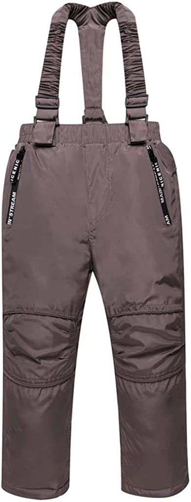 JiAmy Kids Snow Pants Ski Bibs Waterproof Winter Overalls Detachable Suspenders