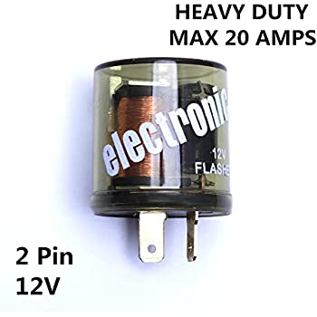 12v heavy duty 2 pin compatible electronic fixed flasher turn signal  flasher relay
