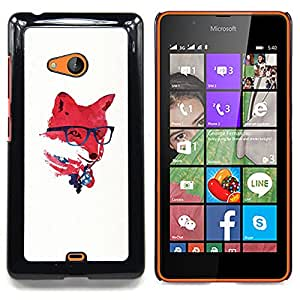 - Red USA Hipster Fox/ Hard Snap On Cell Phone Case Cover - Cao - For Microsoft Nokia Lumia 540 N540