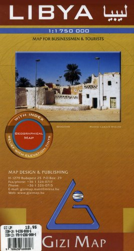 Libya Map (English, Spanish, French, Italian and German Edition) (English and French Edition)