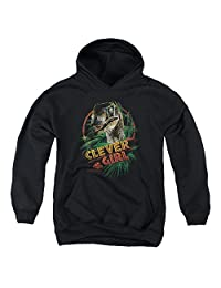 2Bhip Jurassic Park Dinosaur Movie Spielberg Clever Girl Big Boys Pull-Over Hoodie